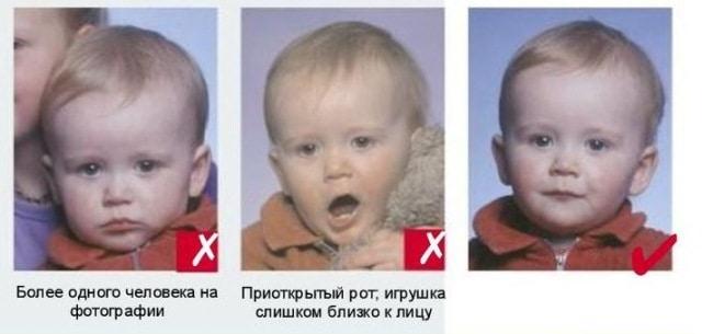 Рис. 2. Как сфотографировать младенца